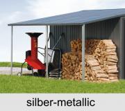 Biohort Seitendach für Gerätehaus Europa, silber-metallic, 150 x 300 cm