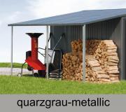 Biohort Seitendach für Gerätehaus Europa, quarzgrau-metallic, 150 x 228 cm