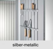 Biohort Werkzeughalter für Tür, silber-metallic (2 Stück)