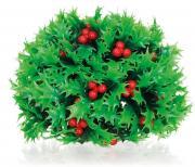 biOrb Aquarium Dekoration künstliche Pflanzen Holly Ball mit Beeren grün/rot 10 x 10 x 9 cm