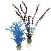 biOrb Aquarium Dekoration künstliche Pflanzen Set mittel blau & lila