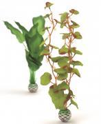 biOrb Aquarium Dekoration künstliche Seidenpflanzen Set mittelgroß grün