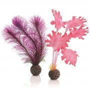 biOrb Aquarium Dekoration künstlicher Seetang Set klein pink