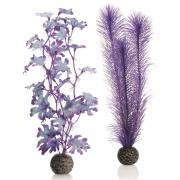 biOrb Aquarium Dekoration künstlicher Seetang Set mittelgroß lila