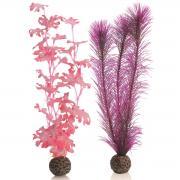 biOrb Aquarium Dekoration künstlicher Seetang Set mittelgroß pink