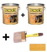 BONDEX Dauerschutz-Lasur 2 x 4 L Eiche hell + Pinsel