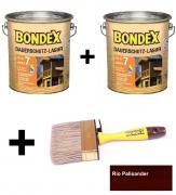 BONDEX Dauerschutz-Lasur 2 x 4 L Rio Palisander + Pinsel