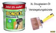 BONDEX Douglasien-Öl 1 x 3 L 20% mehr mit Versiegelungsbürste
