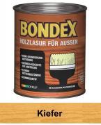 BONDEX Holzlasur für Außen Wetterschutz Holzschutzlasur 750 ml Kiefer