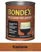 BONDEX Holzlasur für Außen 0,75 L Wetterschutz Kastanie