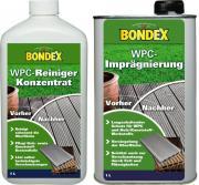 BONDEX WPC Reiniger Konzentrat 1 L + Imprägnierung 1 L SET
