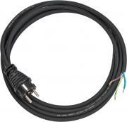 Brennenstuhl Anschlusskabel Stromkabel Schuktzkontaktstecker 3-polig H05RR-F 3G1,5 schwarz 3 m
