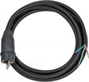 Brennenstuhl Anschlusskabel Stromkabel Schuktzkontaktstecker 3-polig H07RN-F3G1.5 schwarz 3 m