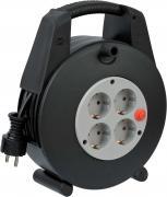 Brennenstuhl Box Kabelbox Kabeltrommel Stromverlängerung H05VV-F3G1.5 schwarz/grau 15 m
