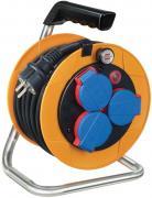 Brennenstuhl Brobusta Kompakt IP44 Gewerbe-/Baustellen Kabeltrommel Stromverlängerung gelb H07RN-F 3G1,5 10 m