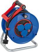 Brennenstuhl Garant Bretec Baustellen-Kabeltrommel Stromverlängerung Spezialkunststoff IP44 blau 25 m