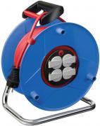 Brennenstuhl Garant IP44 Kabeltrommel Stromverlängerung blau H05VV-F 3G1,5 25 m