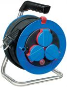 Brennenstuhl Garant Kompakt Kabeltrommel Stromverlängerung Spezialkunststoff IP44 blau 15 m
