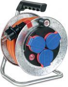 Brennenstuhl Garant S Kompakt IP44 Kabeltrommel Stromverlängerung silber AT-N07V3V3-F 3G1,5 10 m