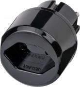 Brennenstuhl Reisestecker Reiseadapter Reise-Steckdosenadapter für Euro Steckdose und Schweiz Stecker schwarz