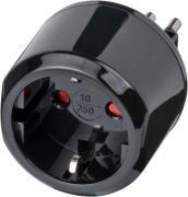 Brennenstuhl Reisestecker Reiseadapter Reise-Steckdosenadapter für Italien Steckdose und Euro Stecker schwarz