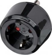 Brennenstuhl Reisestecker Reiseadapter Reise-Steckdosenadapter für Südafrika & Indien Steckdosen und Euro Stecker schwarz