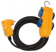 Brennenstuhl Schutzadapterleitung FI IP54 mit Powerblock 10m schwarz Steckdosenleiste