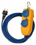 Brennenstuhl Verlängerungskabel IP44 mit Powerblock 5m blau Steckdosenleiste