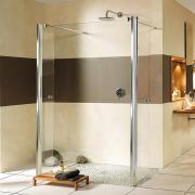 Breuer Entra Walk In Duschwand Alleinstehend mit 2 beweglichen Elementen