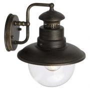 Brilliant Außenleuchte Wandleuchte Artu 1-flammig E27/60W Metall/Glas schwarzgold IP44