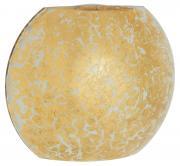 Briloner Gold Wandleuchte 1-flammig Glas-Metall 25x20,6x11 cm goldfarben
