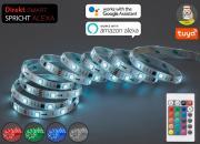 Briloner WIFI RGB-LED Flexband mit transparenter Ummantelung Kunststoff weiß