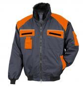 Bullstar Allroundblouson Arbeitsjacke anthrazit/orange Gr. XL