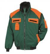 Bullstar Allroundblouson Arbeitsjacke grün/orange Gr. L