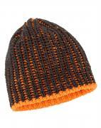 Bullstar Grobstrickmütze ULTRA Wintermütze grau/orange
