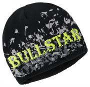 Bullstar Strickmütze Wintermütze bedruckt ULTRA schwarz