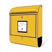 Burg Wächter Briefkasten SCANDIC 825 S Gelbe Post
