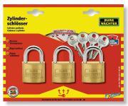 Burg Wächter Zylinder-Vorhangschloss-Set Trio22220SB 3,5 mm