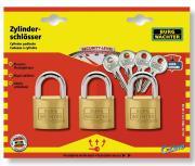 Burg Wächter Zylinder-Vorhangschloss-Set Trio22230SB