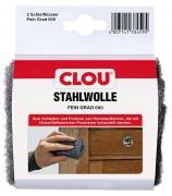 Clou Stahlwolle 000 Schleifkissen 2er Packung zum Schleifen und Polieren von Holzoberflächen
