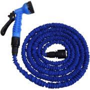 CON:P flexibler Schlauch 1/2 Gartenschlauch 5-16 m inkl. Brause blau
