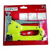 CONIP Hochleistungs-Tacker für 4 bis 14 mm Klammern Typ 57 inkl. 50 Klammern gelb