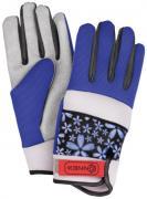 Connex Gartenhandschuhe Spandex Floral lila-blau Größe 8