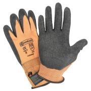 Connex Handschuh mit Klettverschluss Größe 8 Feinstrickhandschuh mit Latexbeschichtung schrumpfgeraut griffsicher