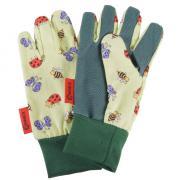 Connex Handschuhe für Kinder Größe 5 Bienchen Motiv Baumwolle Innenhand mit Punktbenoppung atmungsaktiv