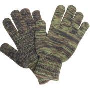 Connex Handschuhe Forst und Garten Größe 8 Acryl-Grobstrickhandschuh rutschhemmende Vinylbenoppung tarnfarben