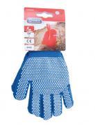 Connex Handschuhe Grobstrick mit Punktbenoppung blau Größe 4