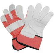 Connex Handschuhe Rindvollleder stark Größe 9, gummierte Canvas-Stulpe, Lederqualität 1,4 mm, Handinnenfläche gefüttert