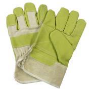 Connex Handschuhe Spaltleder-Imitation PVC/Vinyl-Beschichtung Größe 10 (3 Stück)