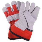 Connex Lederhandschuhe Größe 4 für Kinder Rindkernspaltleder Lederqualität 1,2 mm Handinnenfläche gefüttert